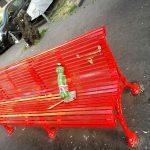 Piazza Gandolfo, vandalizzata la panchina rossa contro il femminicidio